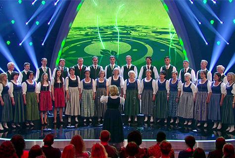 Sängerrunde Pöllau auf der Bühne