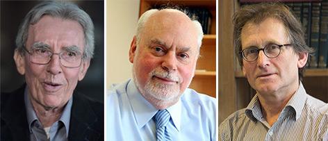 Die drei Preisträger: Jean-Pierre Sauvage, Fraser Stoddart und Bernard Feringa