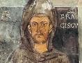 Das älteste erhaltene, noch zu Lebzeiten entstandene Bild Franz' von Assisi, Fresko im Kloster Sacro Speco in Subiaco
