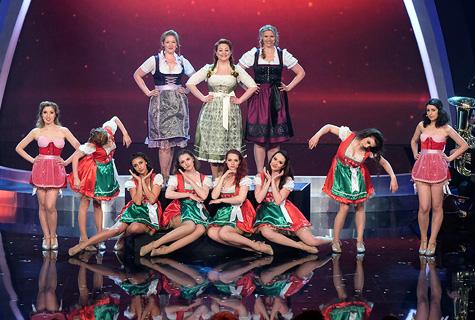 The Hot Box Girls auf der Bühne