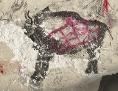 """Die steinzeitliche Malerei aus den Höhlen von Marsoulas, die einen """"Higgs-Bison"""" zeigen."""