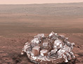 Künstlerische Illustration der Landung von Schiaparelli auf dem Mars