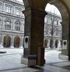 Der Arkadengang der Universität Wien.