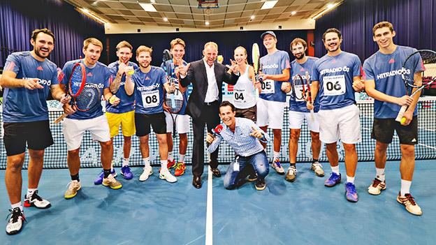 Das Team der Ö3-Tennis-Challenge