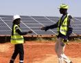 Eröffnung einer Photovoltaik-Anlage am 22. Oktober 2016 in Bokhol/Senegal, das Projekt wurde in europäischer Entwicklungszusammenarbeit finanziert