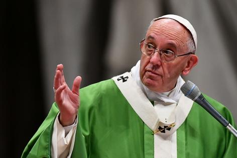 Papst Franziskus feiert Gottesdienst mit Gefangenen