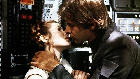 "Carrie Fisher und Harrison Ford in ""Star Wars"""