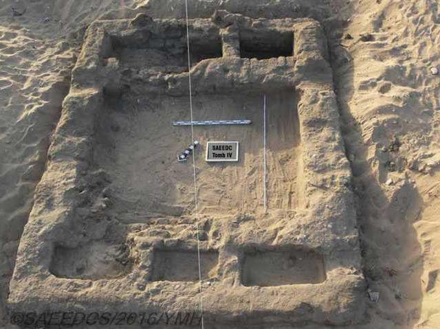 Eine der Ausgrabungsstätten