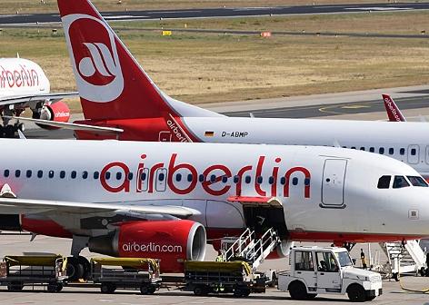 Maschinen von Airberlin am Flughafen Tegel in Berlin