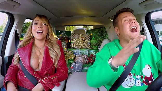 James Corden und Mariah Carey