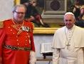 Robert Matthew Festing und Papst Franziskus