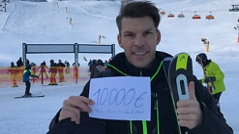 Florian Gschwandtner beim Skifahren