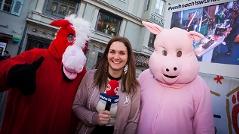 Schweinchen Kostüm beim XWU