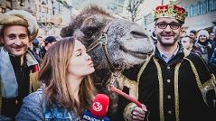 Ein Kamel besucht das Ö3-Weihnachtswunder
