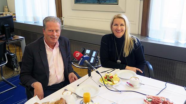 Reinhold Mitterlehner und Claudia Stöckl