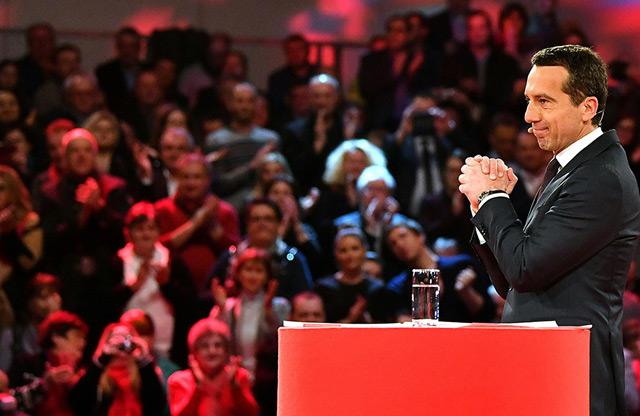 Bundeskanzler Christian Kern bei seiner Grundsatzrede in Wels