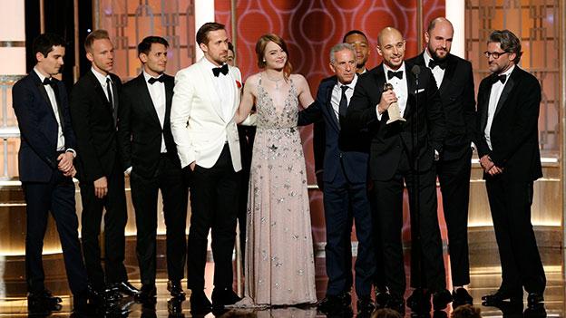 """Der Cast von """"La La Land"""" bei der Goldes-Globes-Verleihung"""