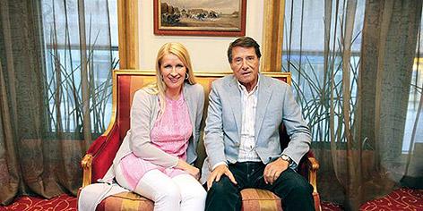 Claudia Stöckl und Udo Jürgens
