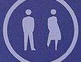 Zeichen, die einen Mann und eine Frau symbolisieren