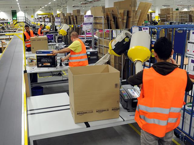 Im Amazon Logistik-Zentrum Pforzheim