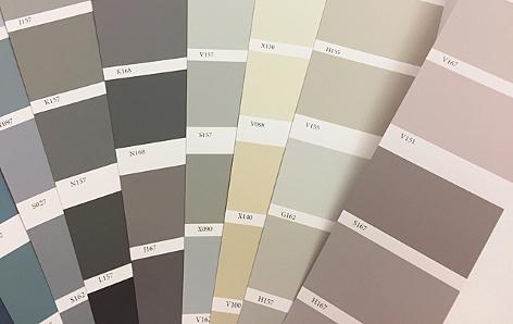 eine graue Farbpalette