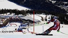 Skirennfahrer in St. Moritz