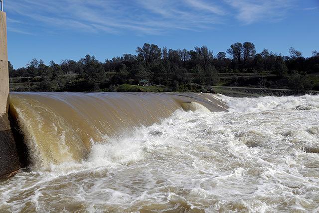 Wasserhöchststand: Der Feather River in Oroville ist derzeit ein reißender Fluss