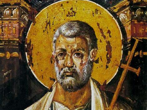 Der heilige Petrus, Enkaustik-Ikone aus dem 6. Jahrhundert, Katharinenkloster (Sinai)