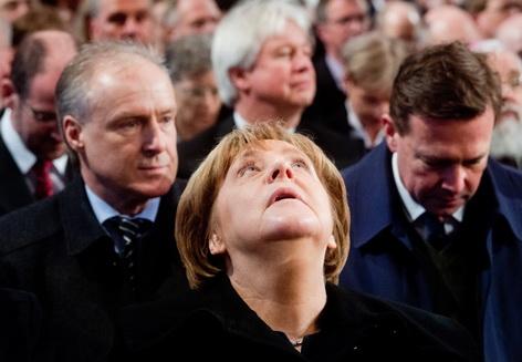 Angela Merkel beim Versöhnungsgottesdienst