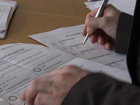 Pfarrgemeinderatswahl / PGR-Wahl 2012: Auszählung der Stimmen