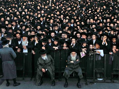 Ultraorthodoxe Demonstration in Israel