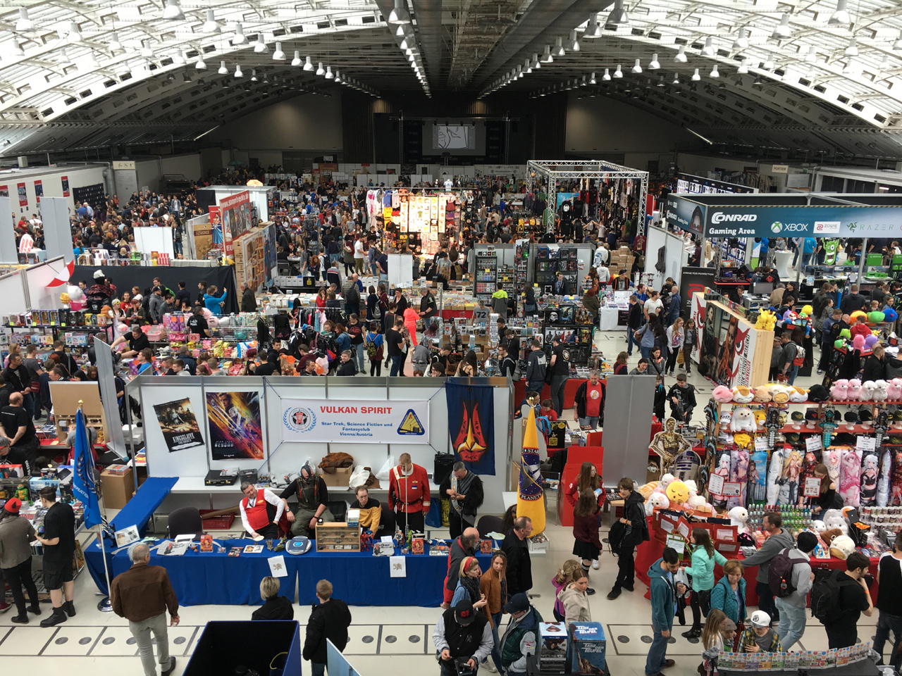 Comic Con in Linz, Totale der Halle