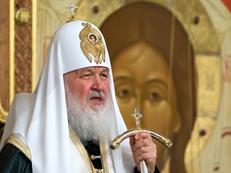 Der Moskauer Patriarch Kyrill I. hält ein Requiem für die Opfer des Terroranschlags in St. Petersburg in der Erlöserkirche der Hauptstadt