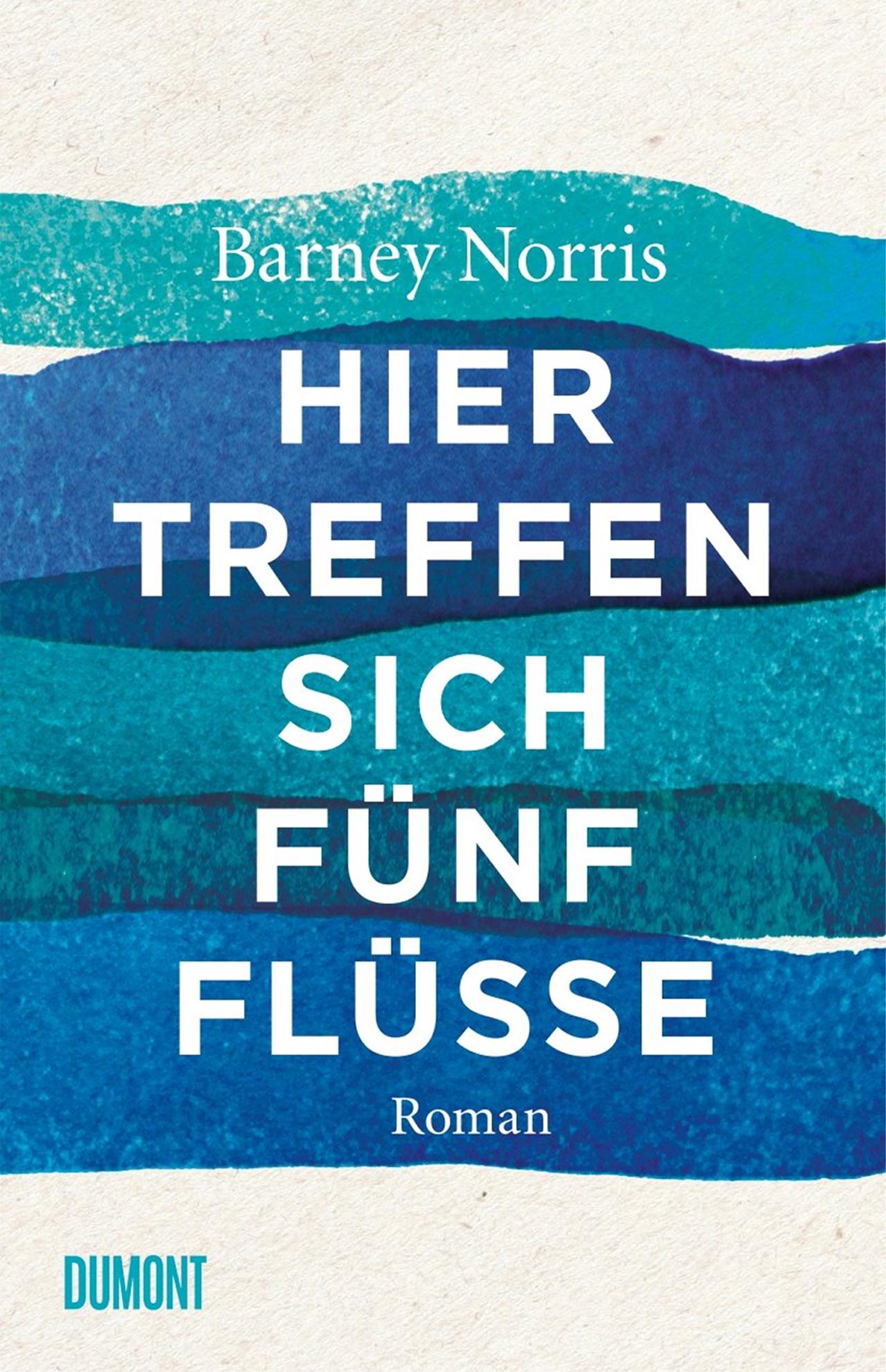 Buchcover: fünf verschieden blaue Streifen