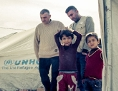 Pater Jacques Mourad in einem Flüchtlingslager in Kurdistan