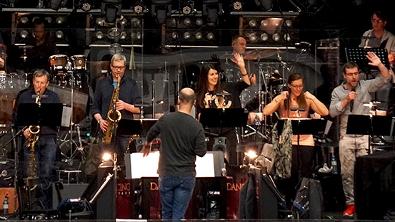 Orchester bei der Probe