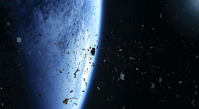 Weltraumschrott in der Erdumlaufbahn