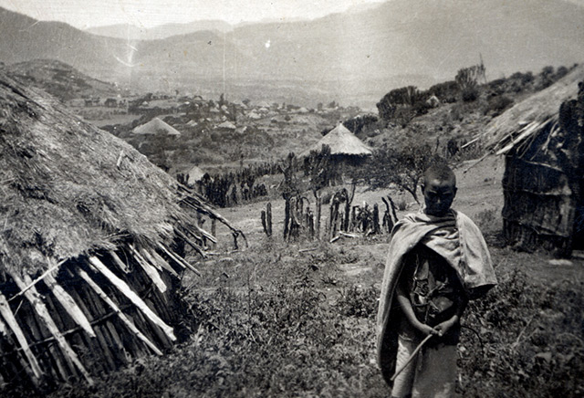 Ein abessinisches Dorf