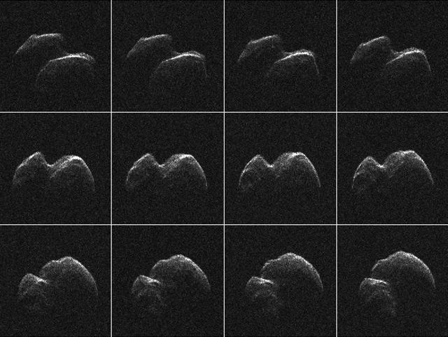 Radaraufnahmen des Asteroiden 2014 JO25