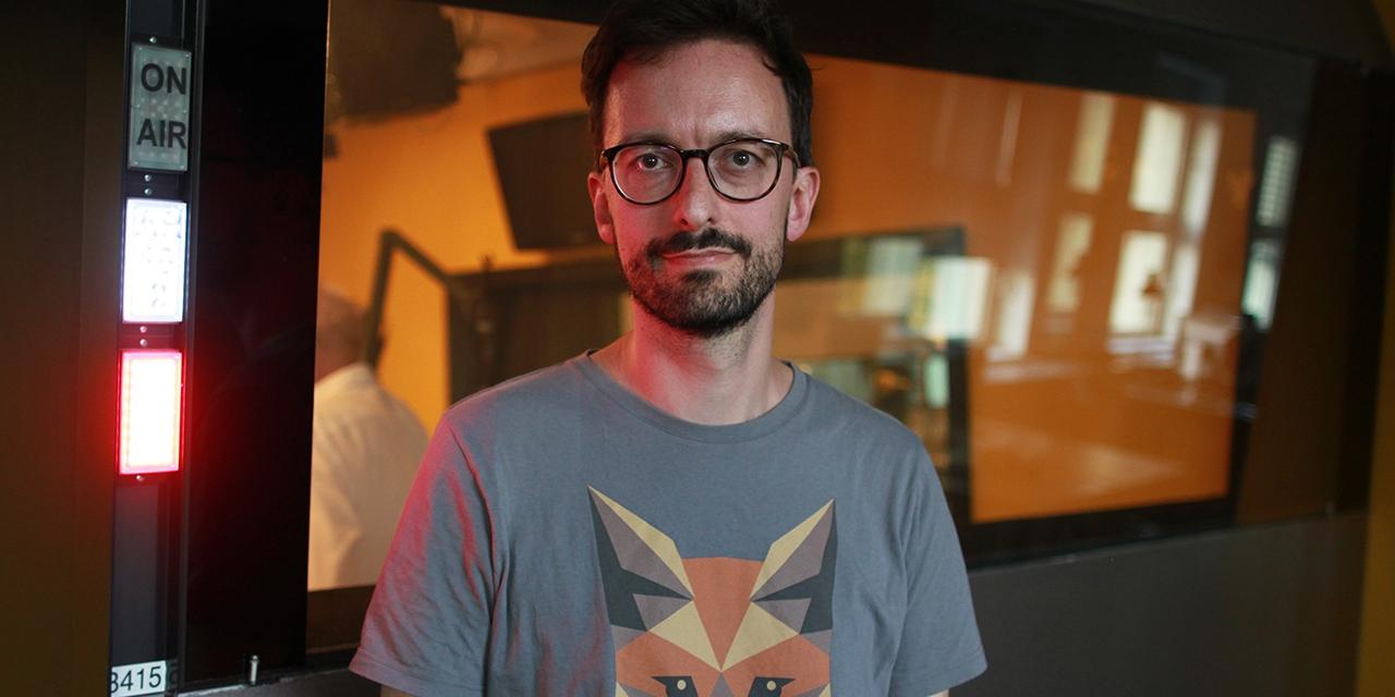 David Fuchs mit einem Fuchs T-Shirt