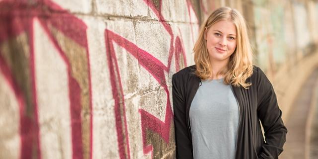 Hannah Lutz, Spitzenkandidatin des VSSTÖ