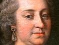 Maria Theresia auf einem historischen Ölgemälde