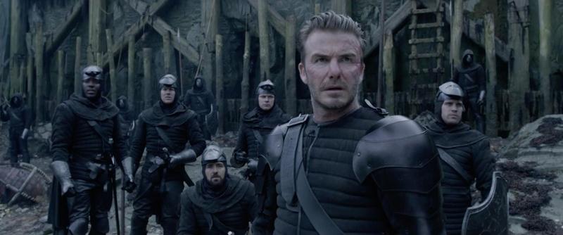 David Beckham als Palastwache