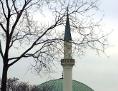 Minarett bei der Moschee nahe der Donauinsel