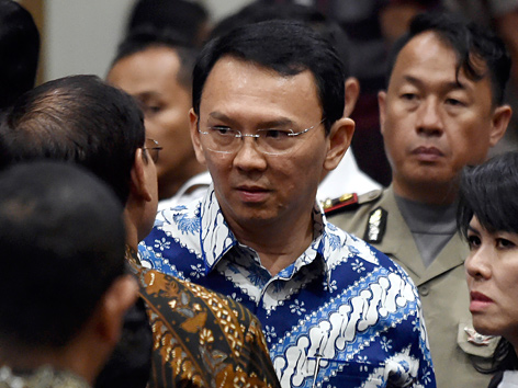 Der Gouverneur der indonesischen Hauptstadt Jakarta, Basuki Tjahaja Purnama