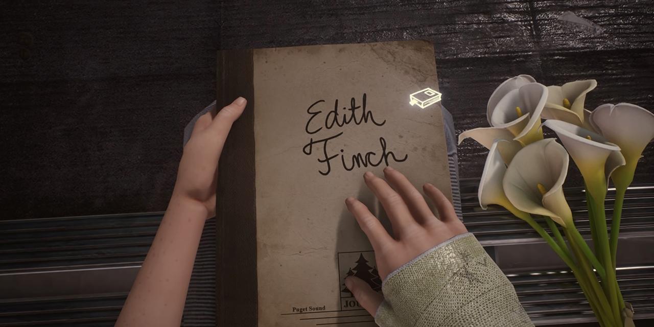 """Buch mit Überschrift """"Edith Finch"""""""
