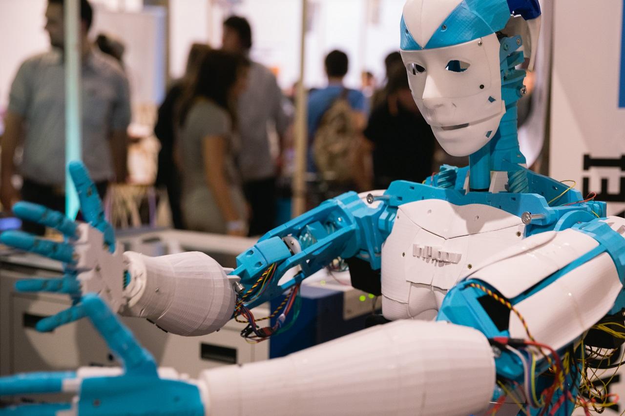 Roboter bauen auf der Maker Faire