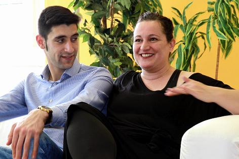 Riem und Mitko beim Paarinterview