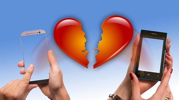 Tablet mit gebrochenen Herz