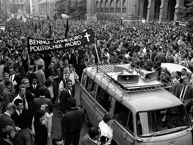 Studentenproteste drei Tage nach dem Tod von Ohnesorg in München